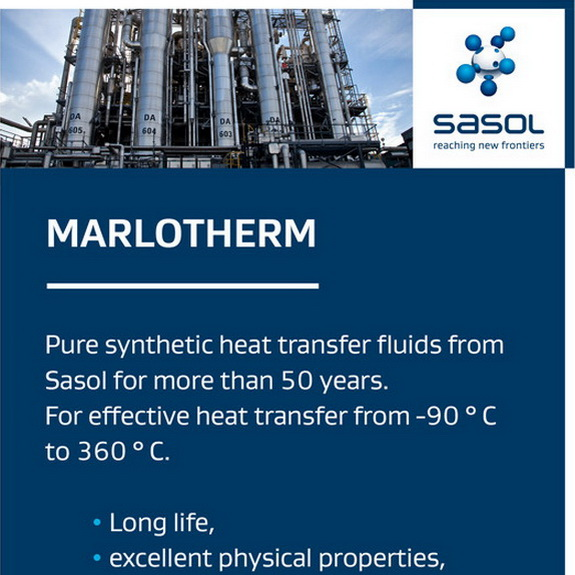 Eastman acquires Marlotherm Heat Transfer Fluids from Sasol Acquisition will enable company to expand Heat Transfer Fluids product offerings, by chemwinfo