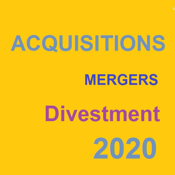 Acquisitons, Mergers and Divestments 2020 In Chemical Industries by chemwinfo